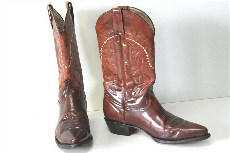 Pistolero Boots Cowboy Boots all Patent Leather Brown Moderate T 9.5 Us 43