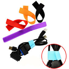 10X Wire Cable Cord Winder, Tie Rope Tape For Laptop PC TV Marker Strap Holder