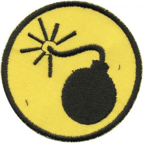 Gr 7cm ca Patches Stick Motivstick  ... 01918 AUFNÄHER BOMBE Explosiv