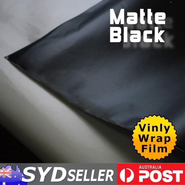 12 x 1.51M Car Paint Vinyl Wrap Film Matte Black Sticker Sheet Air Bubbles Free