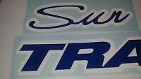 2 - 36 Inch Sun Tracker Pontoon Marine Vinyl Suntracker Boat Decals Blue -white
