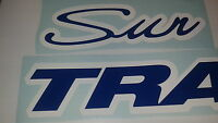 2 - 36 Inch Sun Tracker Pontoon Marine Vinyl Suntracker Boat Decals Blue -white