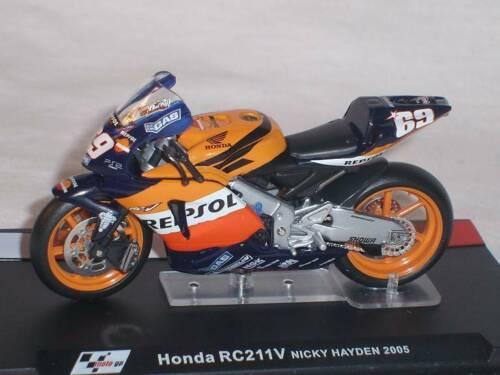 Honda Rc211v Rc 211v Nick Hayden 2005 Motogp 1//24 Altaya By ixo Modellmotorrad M