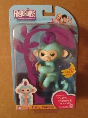 Toys & Hobbies Sincere Fingerlings Zoe Interactive Baby Monkey Toy ~ Turqouise ~ Fingerlings Wowwee