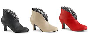 Pleaser Pink Label JENNA-105 Slip-On Ankle Boot Size 9-16