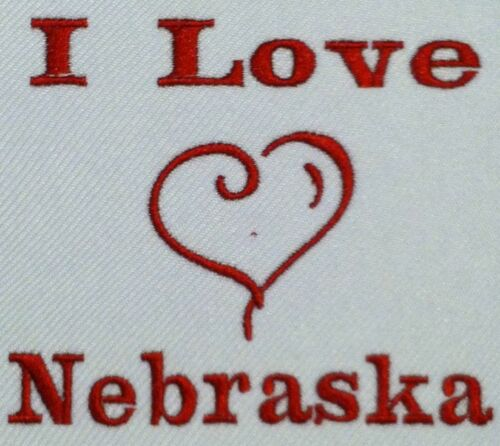I Love Nebraska  Baby Bodysuit Embroidered