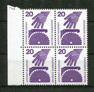 Bund-696-postfrisch-DZ-7-Viererblock-VB-Druckerzeichen-MNH