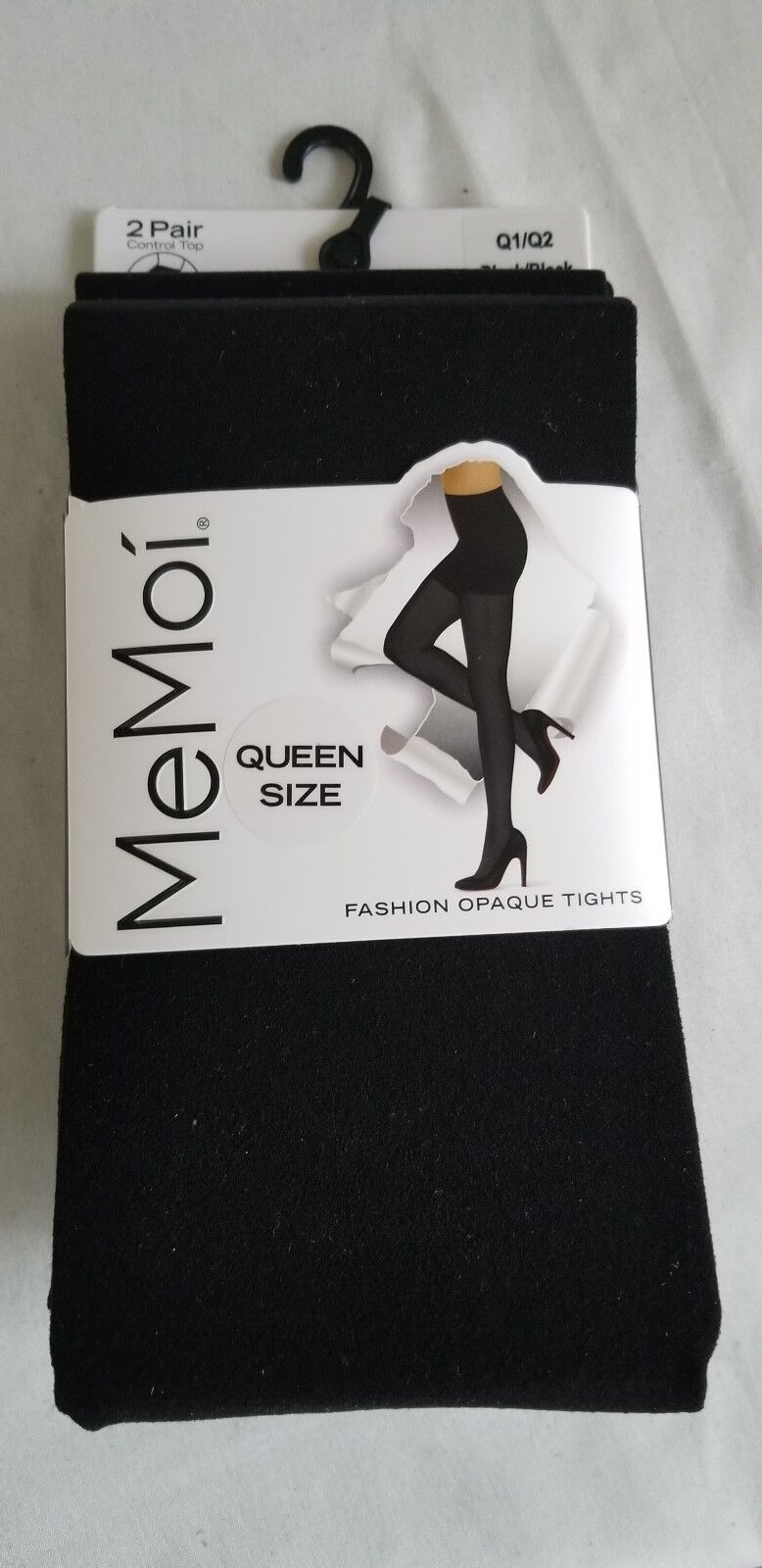New NWT Women/'s Attention 2 Pack Pair Control Top Opaque Tights UPICK Color Size