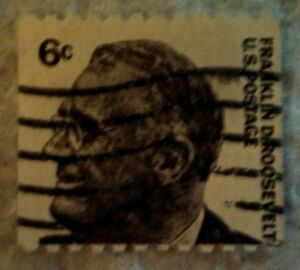 Details About 1967 Scott 1298 U S Frankin D Roosevelt One Used 6 Cent Stamp Off Paper