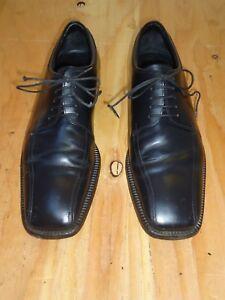 Prada Black Leather Square Toe Men