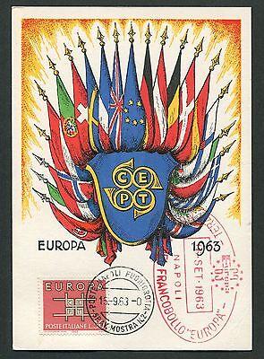 Liberal Italien Mk 1963 Europa Cept Maximumkarte Carte Maximum Card Mc Cm D3434