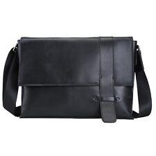 Soft Nappa leather Mens Fashion Satchel shoulder Messenger Crossbody Bag Bookbag