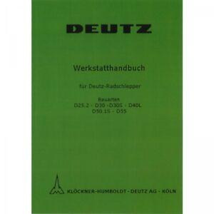 Deutz-Schlepper-Fahrgestell-D25-D30-D40-D50-Traktor-Werkstatthandbuch