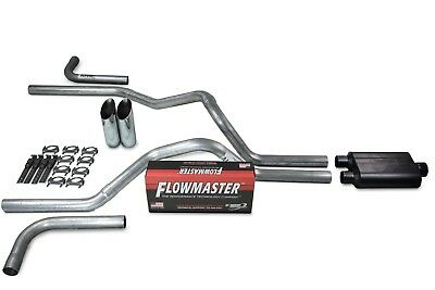 "Chevy GMC 1500 88-95 Single 3/"" Truck Exhaust Kits Flowmaster 50 Series Slash Tip"