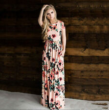 0339effa2 item 7 Womens Holiday Floral Sundress Summer Beach Evening Party Casual Long  Maxi Dress -Womens Holiday Floral Sundress Summer Beach Evening Party  Casual ...