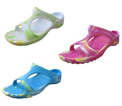 37-42 Damen Bade Pantolette Sommer Schuhe Eva-Sohle Freizeit Latschen Bandagen Gr