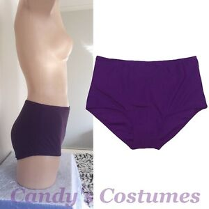 Dark-PURPLE-High-Waisted-SWIM-Bottoms-BOYLEG-Bikini-MODEST-Swimwear-6-8-10-12-14