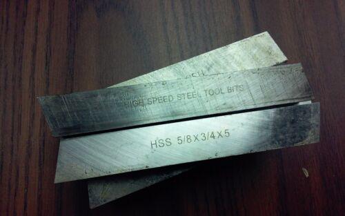 "10pcs 5//8/"" x 3//4/"" x 5/"" Rectangular HSS tool bits for $59.00 #HS-2BT-58R---new"