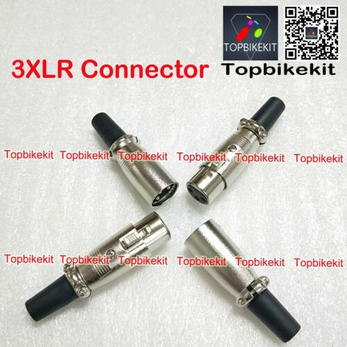 3XLR connector audio plug microphone plug 3pin speaker connector male /&female