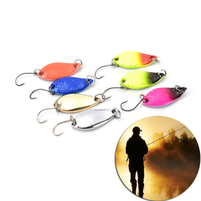 3cm 5g colorful trout lure  spoon bait 7pcs//lot single hook*metal fishing FB