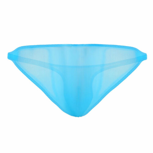 Men/'s Mesh See Through Micro G-String Low Rise Pouch Briefs T-back Thong Panties