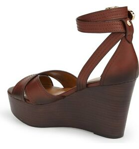 9713d5bb2ba BRAND NEW  225 COACH HARRISON WRAPAROUND ANKLE STRAP PLATFORM WEDGE ...