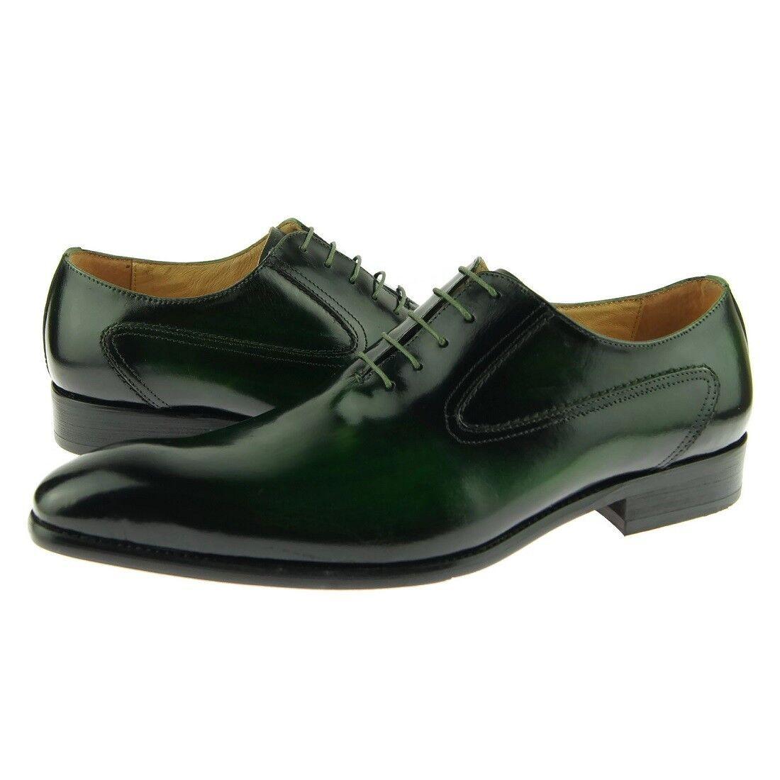 voiturerucci Uni Bout Oxford, Homme   Chaussures Cuir, Émeraude