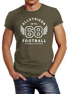 Herren-T-Shirt-College-Design-Schriftzug-NYC-68-Football-Athletic-Clothing