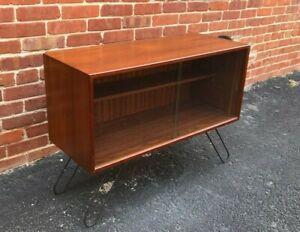 Danish-Teak-MCM-micro-Credenza-Sideboard-Bookcase-1970s-Kai-kristiansen