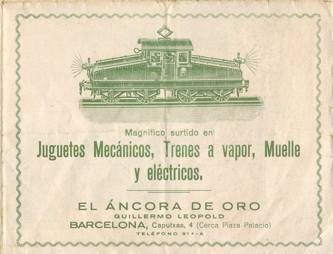 Catalogo EL ANCORA DE ORO -1930s Trenes a Vapor, Muelle y Eléctricos   SP     aa