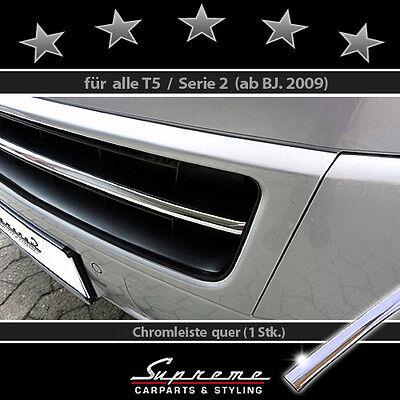 VW T5 Serie 2 09-15 Chrom Zierleiste für Kühlergrill unten Mittelstrebe 3M