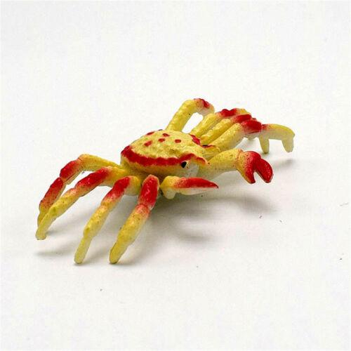 8Pcs Kawaii Simulation Animals Sea Crab Model Figurine Terrarium Craft PVCtoyHJ