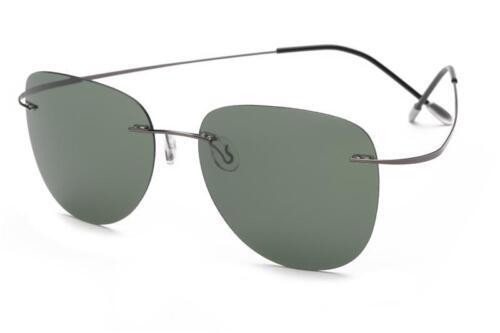 Polariser Lunettes De Soleil Titanium Silhouette lumière Brand Designer Sans Monture Men Eyewear