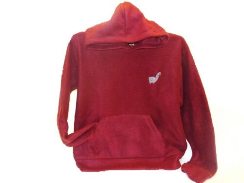 #245 Maroon Baja Hoodie Fine Alpaca Blend Warm Drug Rug Jacket Fair Trade Unisex