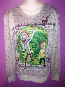 Rick And Morty Ugly Christmas Sweater.Details About Official Rick And Morty Brand Portal Ugly Christmas Sweater Adult Swim Small