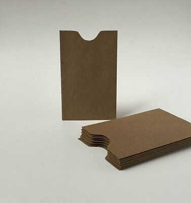 100 Kraft Mini Envelopes,Bulk Gift Card Holder, Brown Bag Rustic Notch Envelope