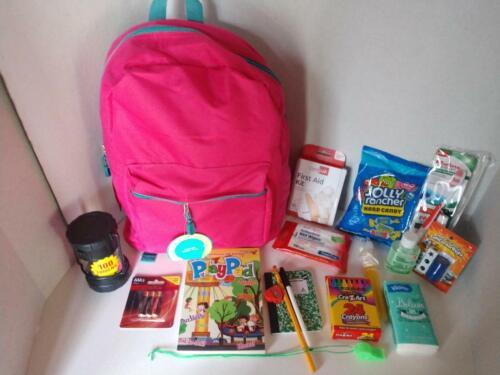 Kids Fun-Child Survival Kit-Camp Grandma Sleepover Emergency Disaster Backpack