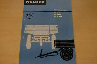 199985) Welger - Plattformwagen F 90 110 130 - Prospekt 08/1973 Neueste Technik