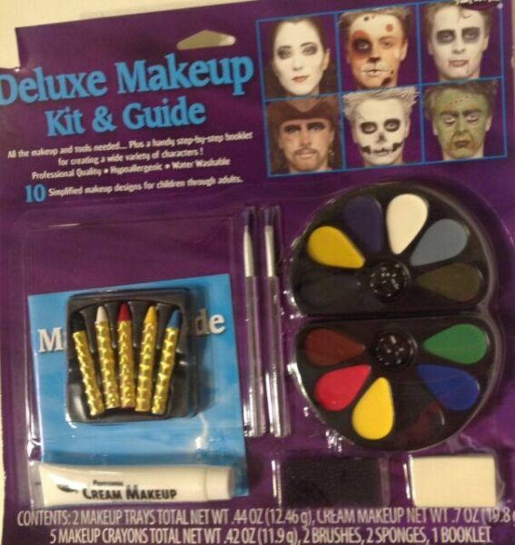 Deluxe Makeup Kit & Guide Face Paint Halloween Cosplay ...