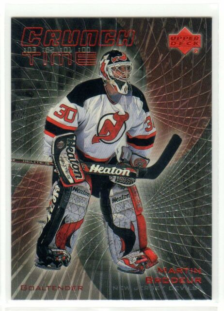 1X MARTIN BRODEUR 1999 00 Upper Deck #CT-24 CRUNCH TIME INSERT NMMT NJ Devils