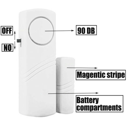 12 Home Safety Burglar Alarm Wireless System Security Device Door Window  Sensor