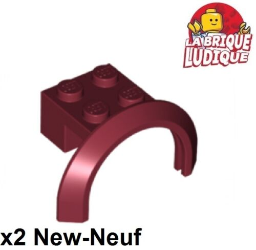 Lego 2x vehicle mudguard garde boue 4x2 1//2x1 2//3 Arch Rd rouge f//dk red 50745