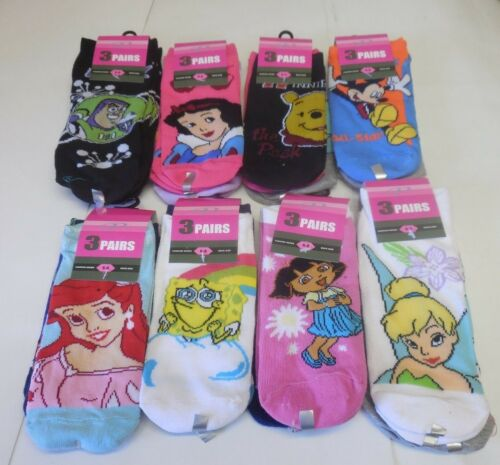 Women/'s Imported Premium No Show Assorted Disney Character Fashion Socks 6-8