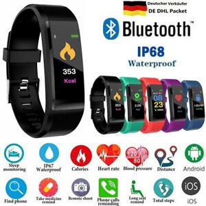 Smartwatch Armband Schrittzähler Pulsuhr Blutdruck Sportuhr Fitness Tracker DE