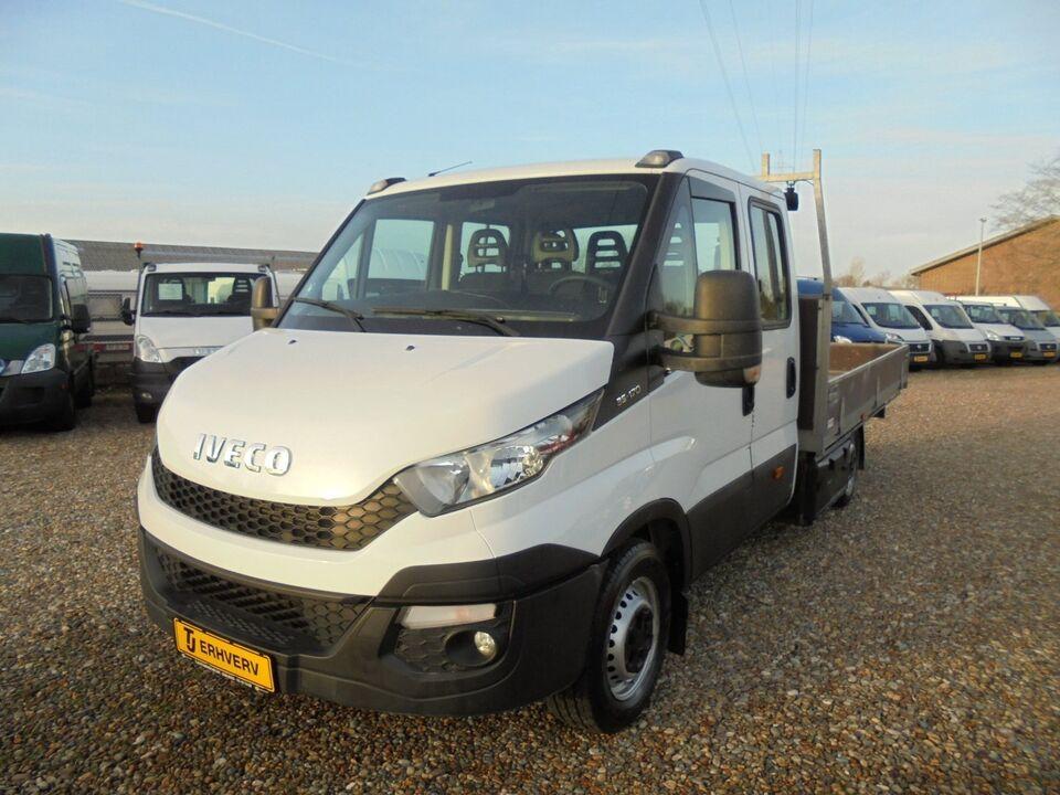 Iveco Daily 3,0 35S17 Mandskabsvogn m/lad Diesel modelår