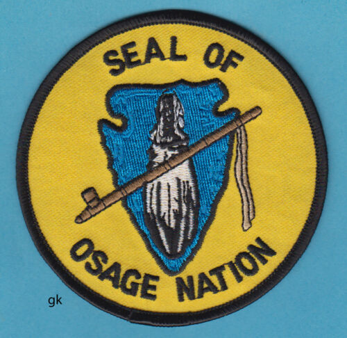 OSAGE NATION OKLAHOMA TRIBAL SEAL  PATCH