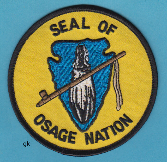 OSAGE NATION OKLAHOMA TRIBAL SEAL  PATCH