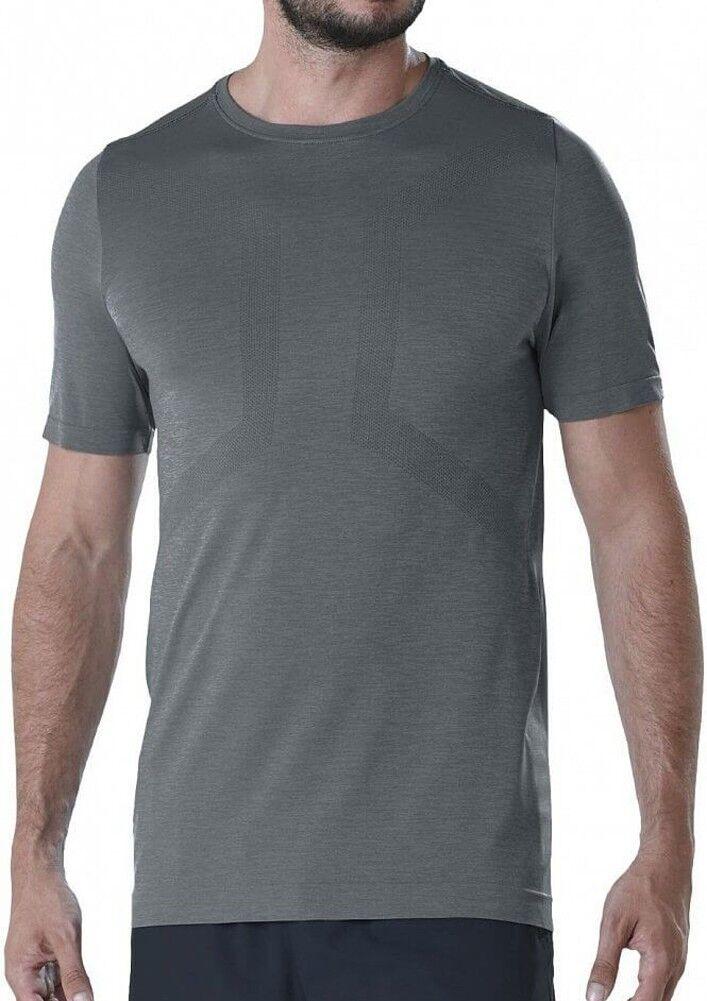 Asics Seamless Short Sleeve Mens Running Top - Grey