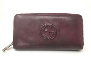 193a8074f Image is loading WOMENS-WALLET-COIN-PURSE-GUCCI-LEATHER-ORIGINAL-USED