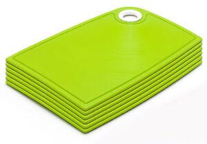 Bable-Fruehstuecksbrettchen-Set-6-tlg-Gruen-24-x-16-Schneidbrett-Kunststoff